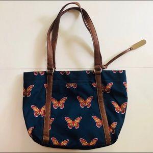 FRANCO SARTO Butterfly Tote Bag, EUC
